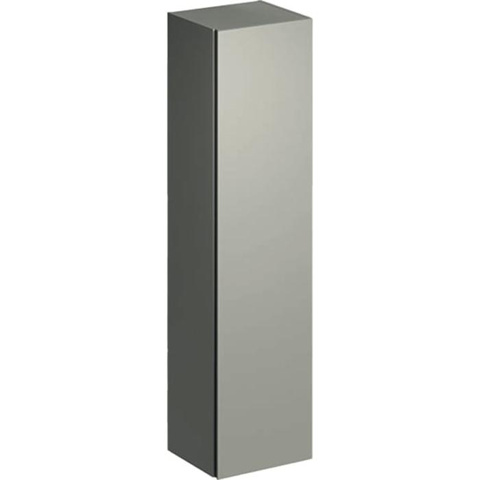 Geberit Xeno² Высокий пенал 40х170х35.1см, подвесной, с одной дверью и внутренним зеркалом, цвет: серый матовый