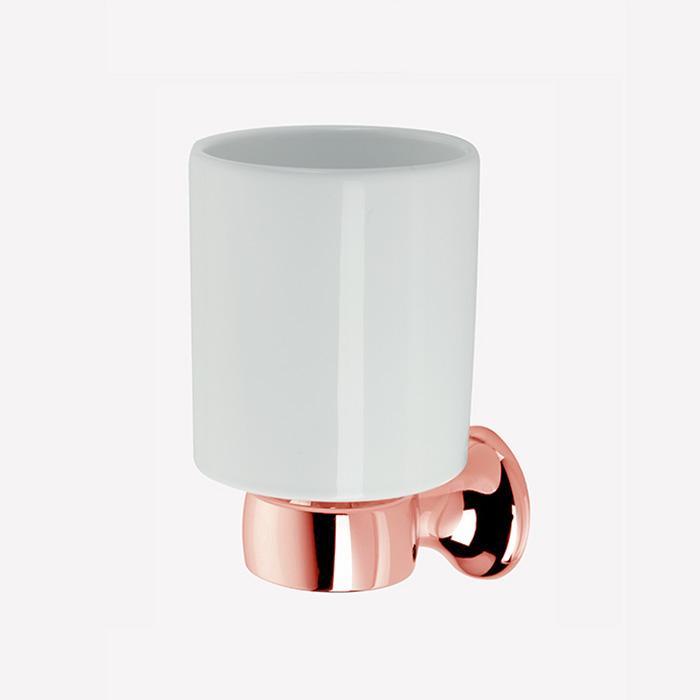 Webert Opera Стакан подвесной, керамика, цвет: розовое золото