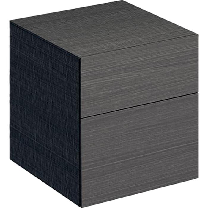 Geberit Xeno² Пенал 45х51х46.2см, подвесной, с двумя выдвижными ящиками, цвет: серый/меламин