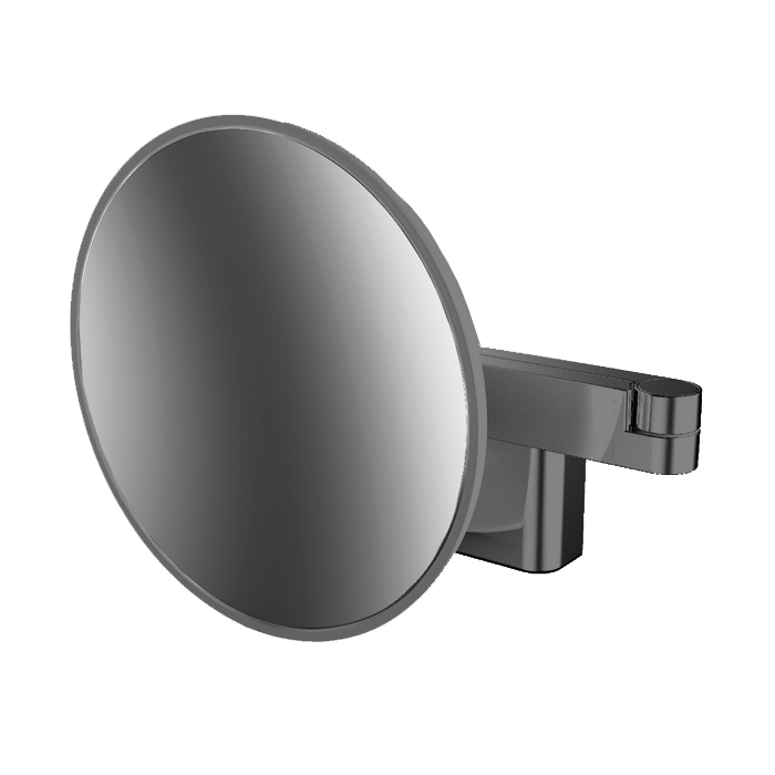 Emco Evo Косметическое зеркало, LED, Ø209mm, 2-колено, 5x увелич., подвесное, цвет: черный