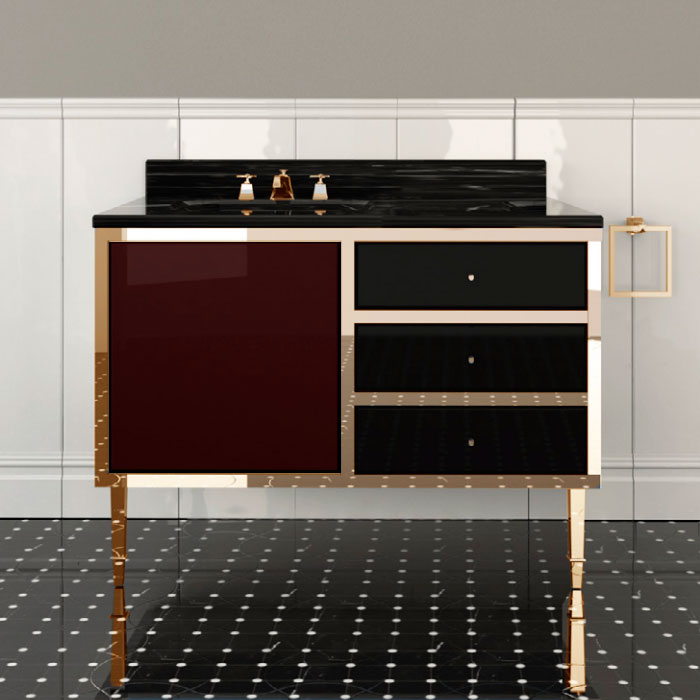 Devon&Devon Jazz 2, Комплект мебели, Цвет: prune/deep black/oro