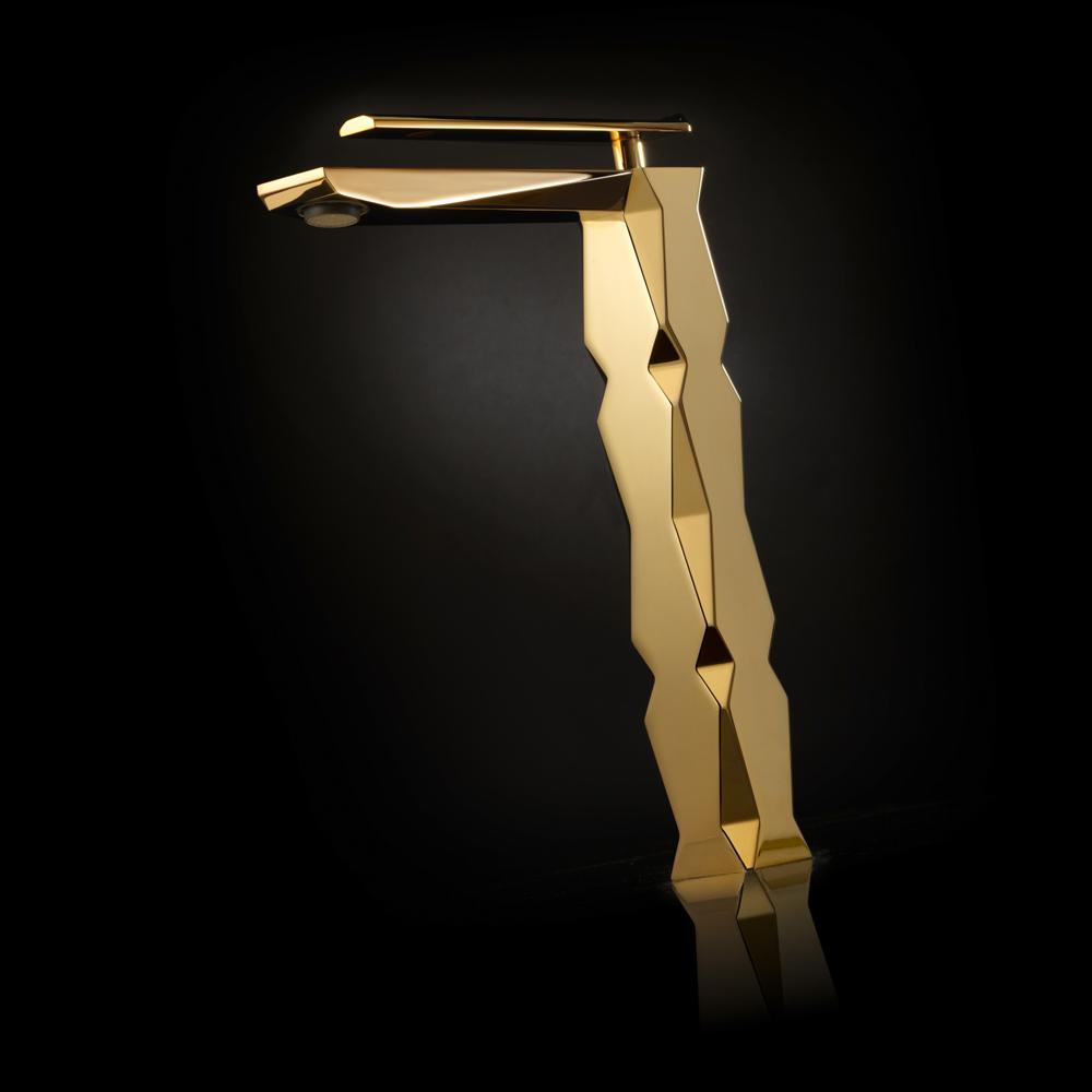 """г. Москва: Maier IKON дизайнерский смеситель для раковины с высоким изливом в цвете """"золото"""""""