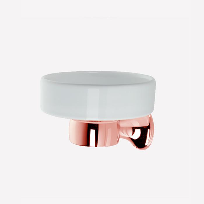 Webert Opera Мыльница подвесная, керамика, цвет: розовое золото