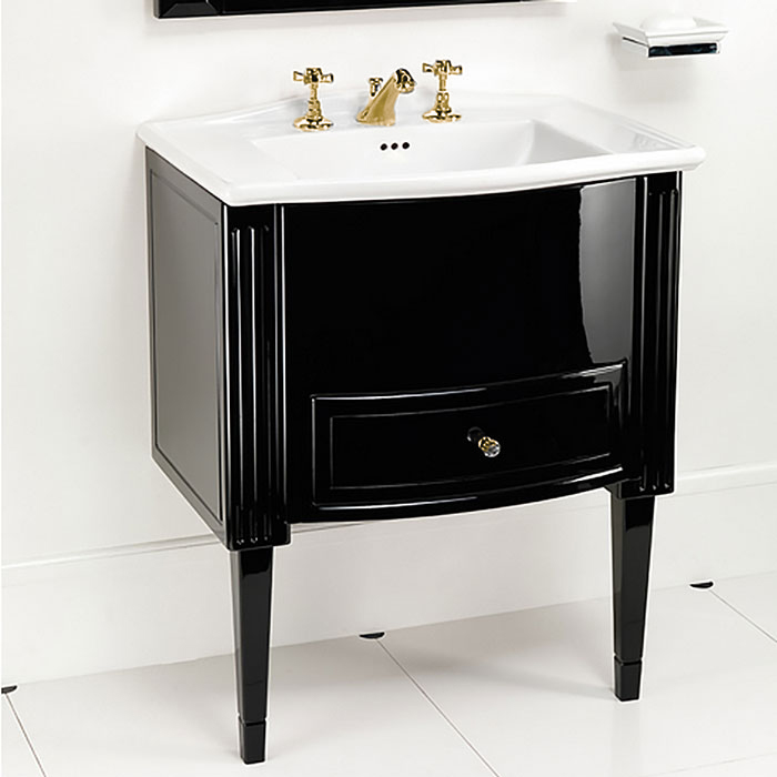 Devon&Devon Domino, Комплект мебели, фурнитура золото, Цвет: deep black,