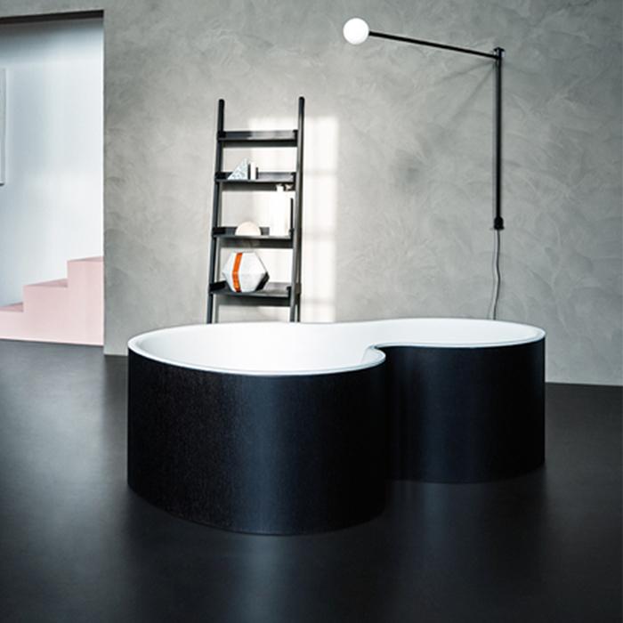 Agape DR Ванна отдельностоящая 183.5x136.5x56.5 см, с отв. для подачи, цвет: темно-серый raw earth
