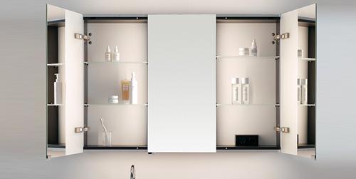 Зеркальный шкафчик от Burgbad с выставки ISH2019
