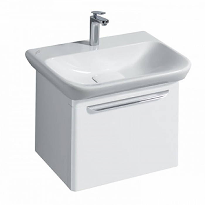 Geberit myDay Тумба с раковиной, 54х41х43см, с 1 отв., подвесная, с выдвижным ящиком, цвет: белый