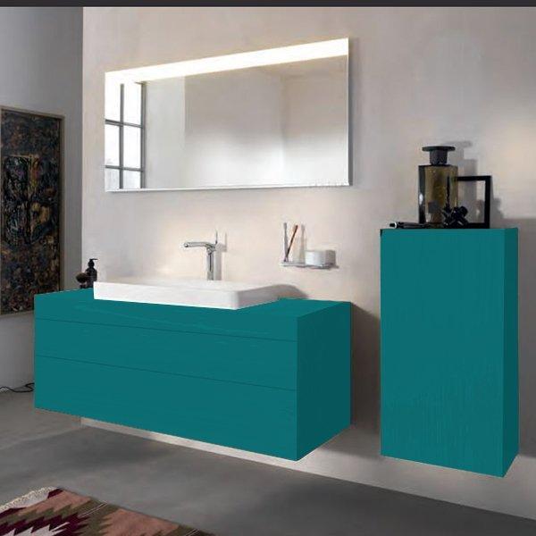 Keuco Edition 400 Комплект мебели 140х53.5х54.6 см, петрол