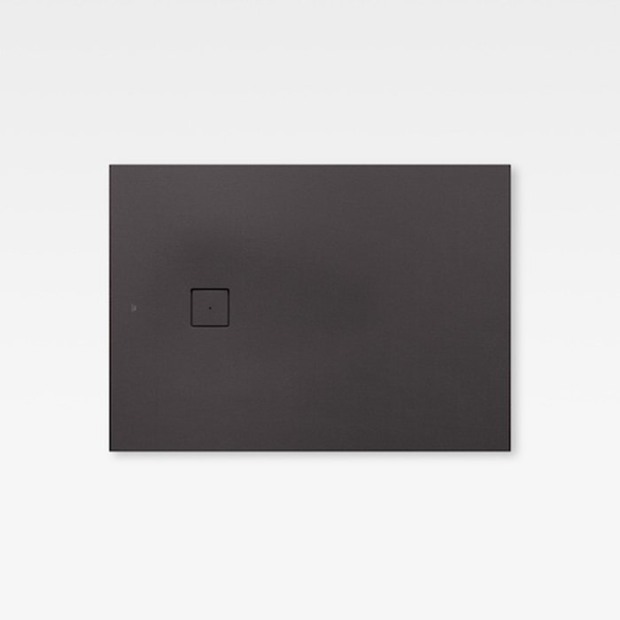 Armani Roca Baia Душевой поддон 140х100х3.1см с боковым сливом, с anti-slip, мат-л: Stonex, цвет: dark metallic