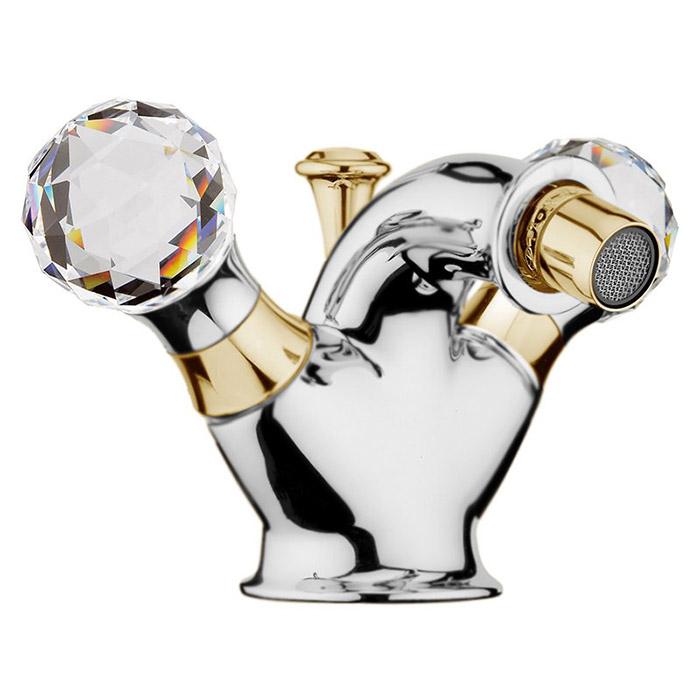 Смеситель для биде Webert Karenina КА710102 Хром/золото/кристаллы Swarovski