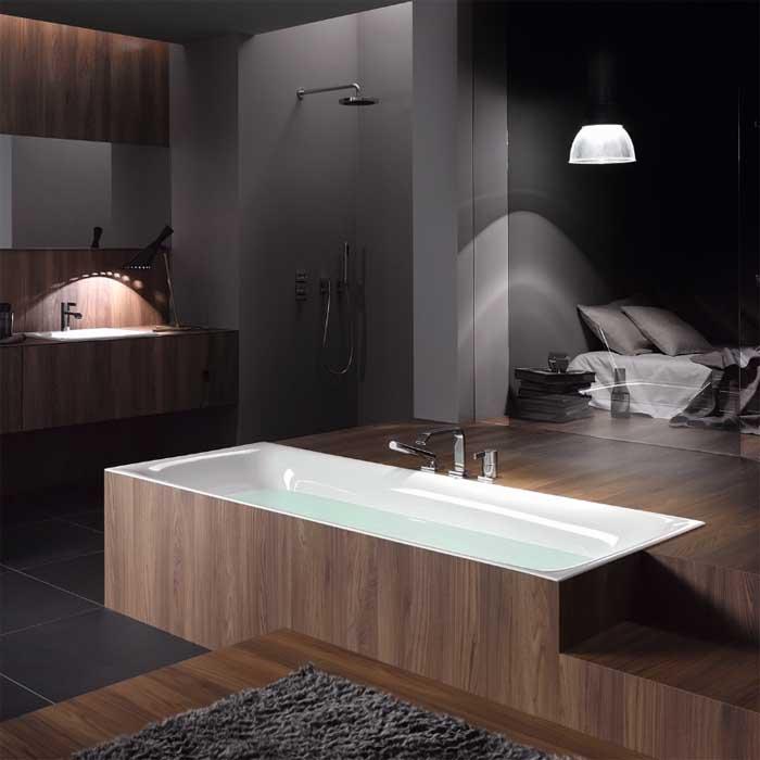 BETTE Lux Ванна с шумоизоляцией 190х90х45,  цвет белый (для удлиненного слива-перелива)