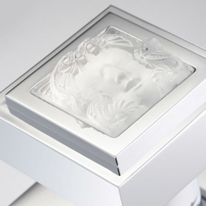 Lalique Masque de Femme métal lisse