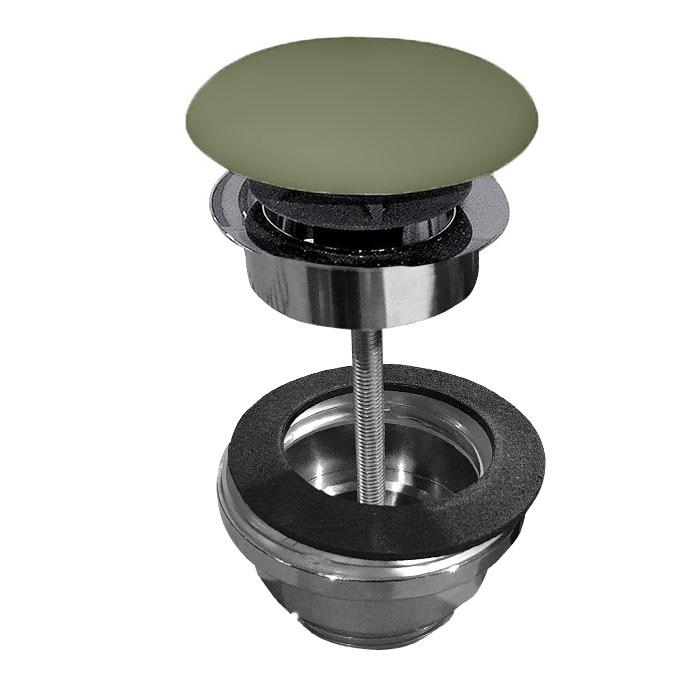 Kerasan Nolita Донный клапан клик-клак, покрытие керамика, цвет Verde muschio