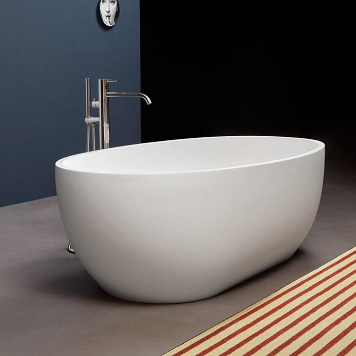 Antonio Lupi Reflex Ванна отдельностоящая, 167х86х53см, Flumood, цвет: белый