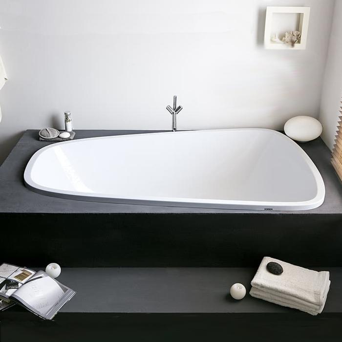 Hoesch Singlebath Duo Ванна встраиваемая 176х114х66см, SX, с гидро и аэромассажем Deluxe Whirl+Air, цвет: белый