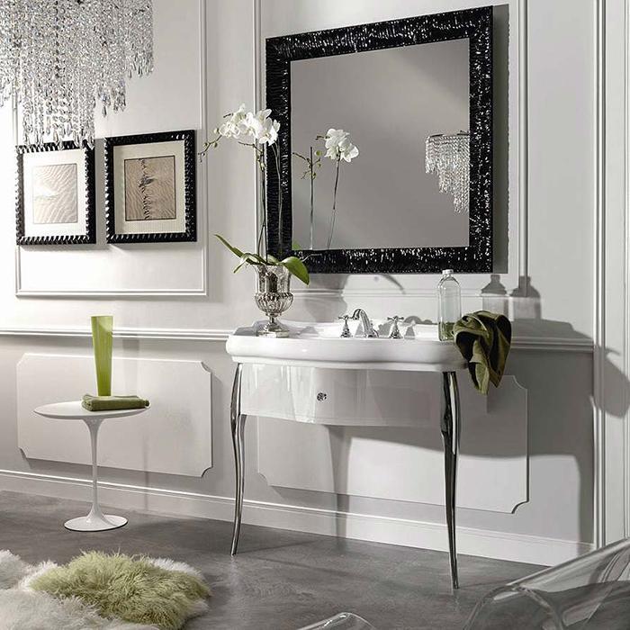 KERASAN Retro Комплект мебели 100см, Цвет: bianco/cromo