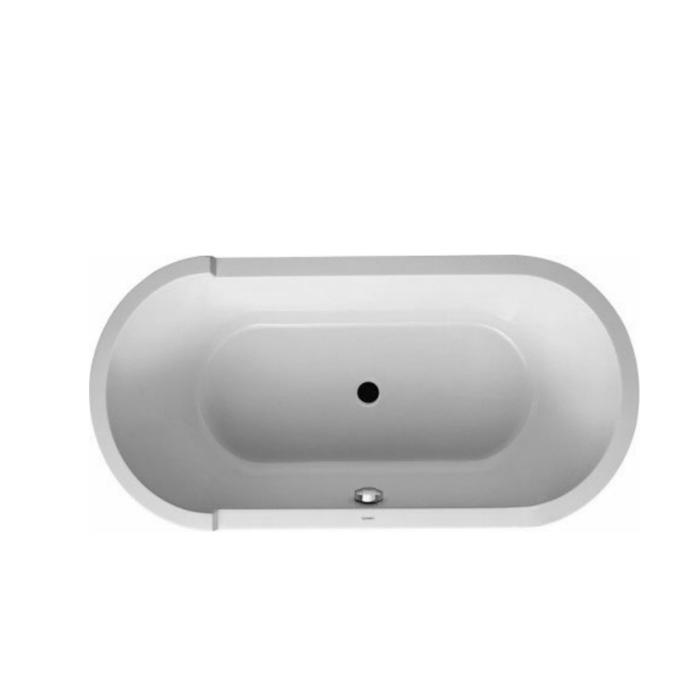 Duravit Starck Ванна 1600х800 мм, аквриловая отдельностоящая, с  акриловой панелью  и ножками, с одним наклоном для спины, цвет: белый