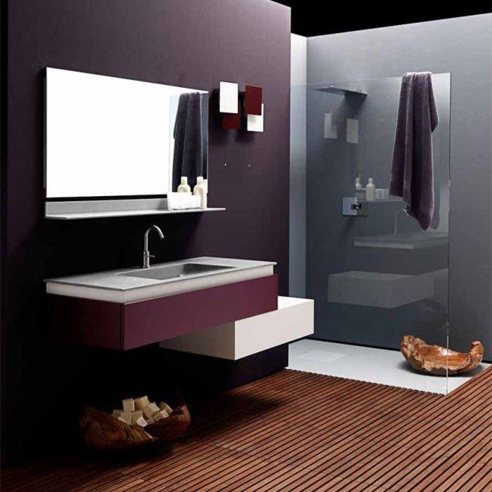 Karol KS comp. №9, комплект подвесной мебели 200 см. цвет: Bordeaux + Grigio Ghiaccio