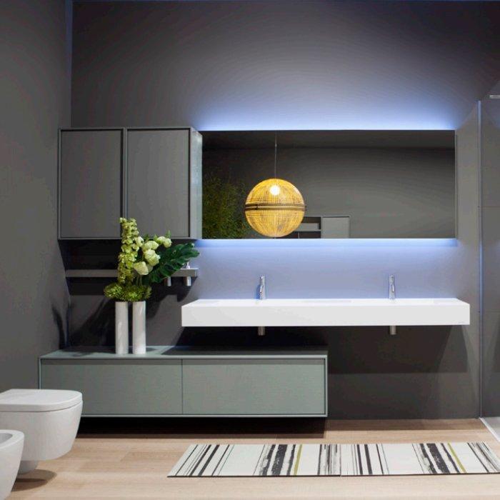 Antonio Lupi Planeta Комплект мебели 180х54х37.5 см с 2 раковинами
