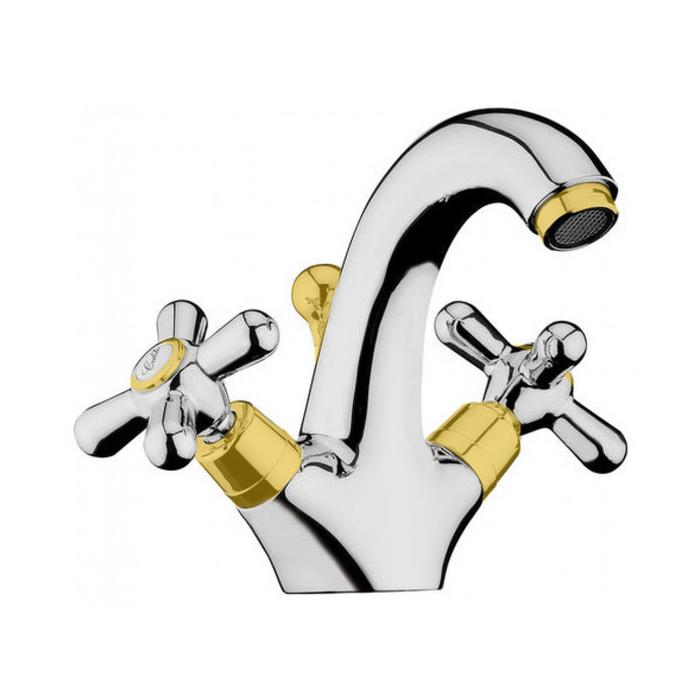 Webert Armony Смеситель для раковины, с донным клапаном, цвет: хром/золото