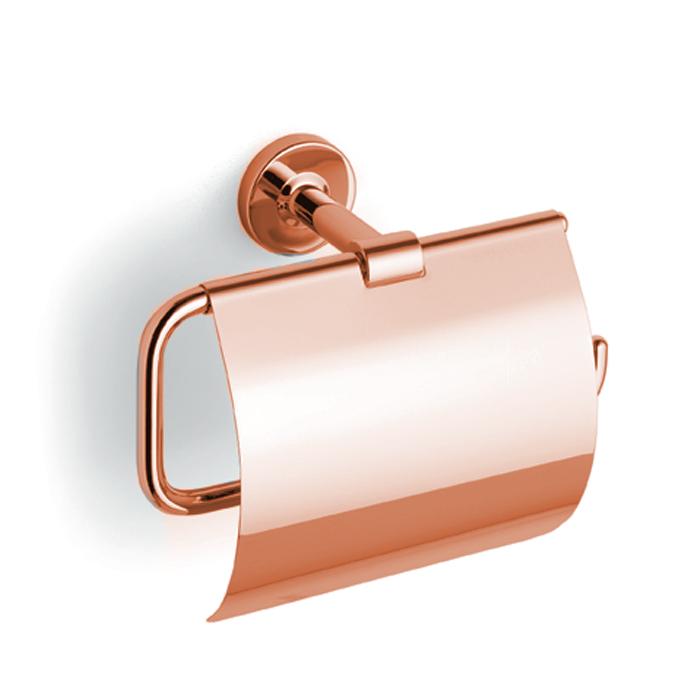 Bertocci Cinquecento Держатель для туалетной бумаги с крышкой, цвет: розовое золото