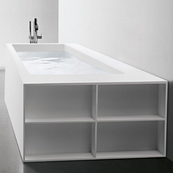 Antonio Lupi Biblio Ванна прямоугольная (2 стороны) 190х80х53.5см, цвет: белый
