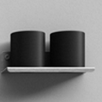 Agape Mach 2 Стакан подвесной двойной 20x10 см, цвет: сатин