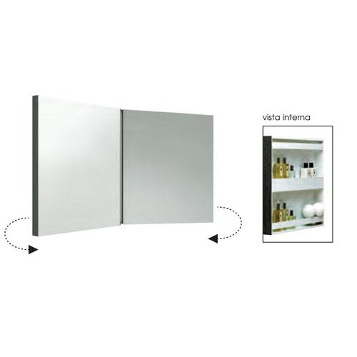AZZURRA Зеркальный шкаф двойной 116х60h см
