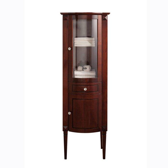 Gentry Home Chester Etagere шкаф напольный 59х178х43 см, отделка: красное дерево, 2 дверцы, верхняя - стеклянная, 1 ящик