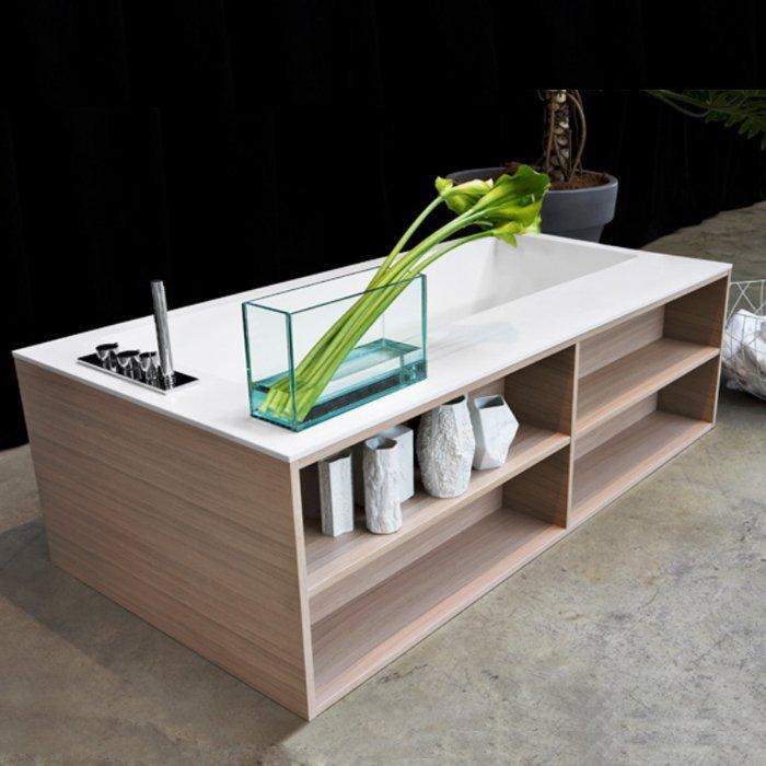 Antonio Lupi Biblio Ванна прямоугольная 180х90х53.5см, цвет: белый