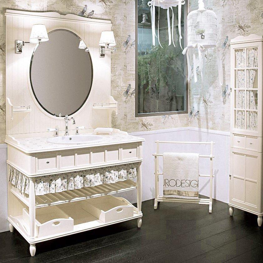 """г. Москва: Eurodesign Green&Roses комплект деревянной мебели в стиле """"прованс"""" белого цвета, с декоративными занавесками"""