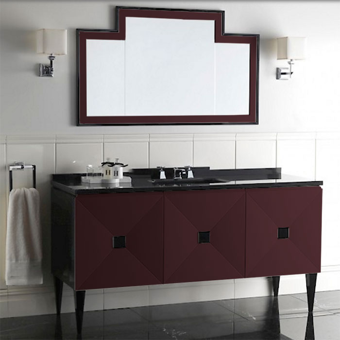 Devon&Devon Jetset, Комплект мебели, Цвет: prune