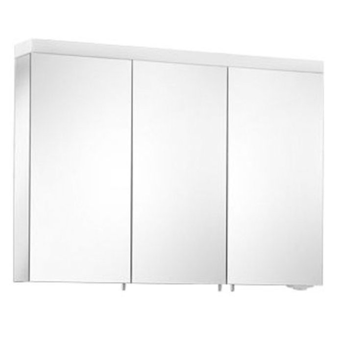 Keuco Royal Reflex NEW Зеркальный шкаф с двойной подсветкой 1000*700*150 мм, Цвет: Белый