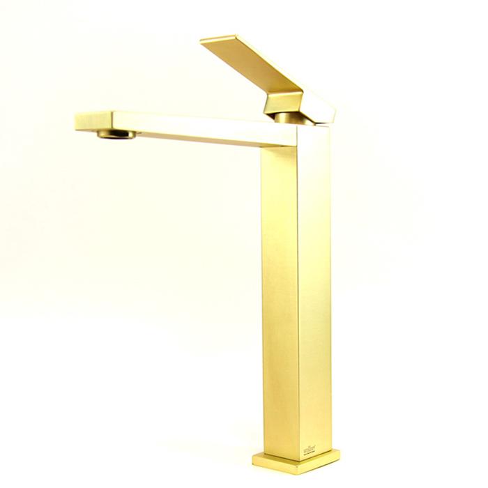 Webert Pegaso Смеситель для раковины, с донным клапаном, цвет: матовое золото
