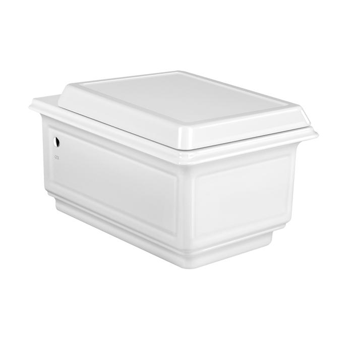 Gessi Eleganza Унитаз подвесной 39.1х50.8см, в комплекте с сиденьем Soft Close и сифоном, цвет: белый