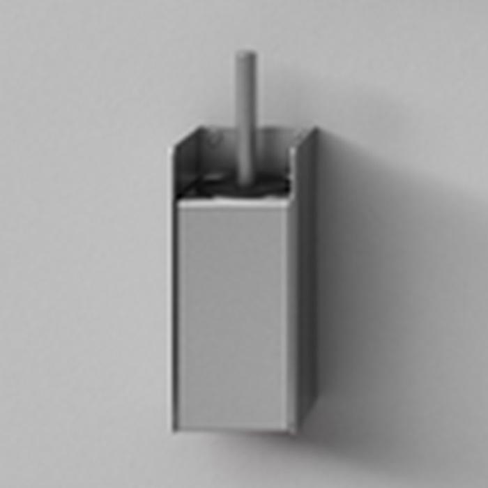Agape Mach 2 Держатель ерша для унитаза подвесной 25.5x10.9 см, цвет: сатин
