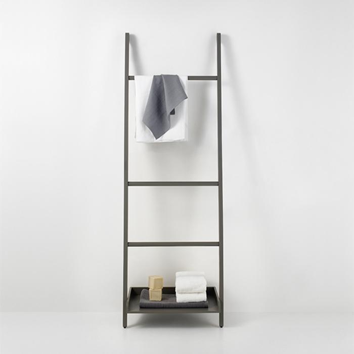 Agape Stairs Полотенцедержатель с полкой 60x180 см, цвет: серый