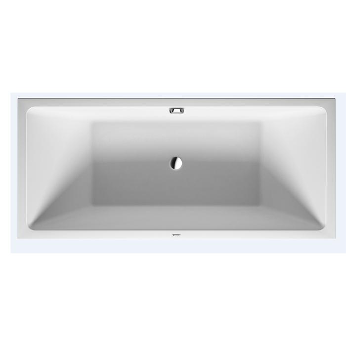 Duravit Vero Air Ванна 1800x800 мм, угол справа, с бесшовной акриловой панелью и рамой, с 2 наклонными для спины панелью и рамой, цвет белый