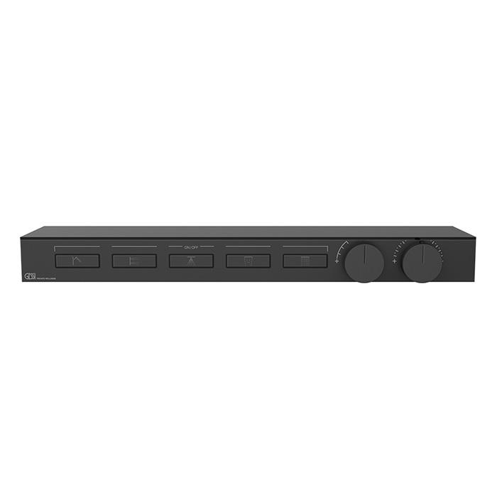 Gessi Hi-Fi Термостат для душа, с вкл. до 5 источников одновременно, с полкой из черного мат. стекла, цвет: Black XL