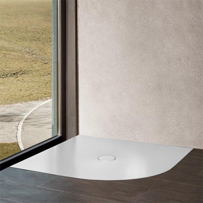 BETTE Floor Сorner Поддон 100х100 см, с закругленным углом, D90 мм, с шумоизоляцией, цвет: белый