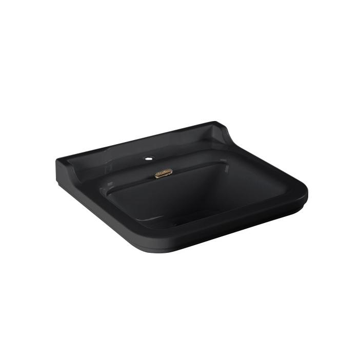 Kerasan Waldorf Раковина 60х55 см, 1 отв., керамическая, цвет: черный/золото