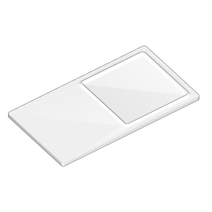 Agape Dot line Полочка с мыльницей, подвесная, цвет: белый