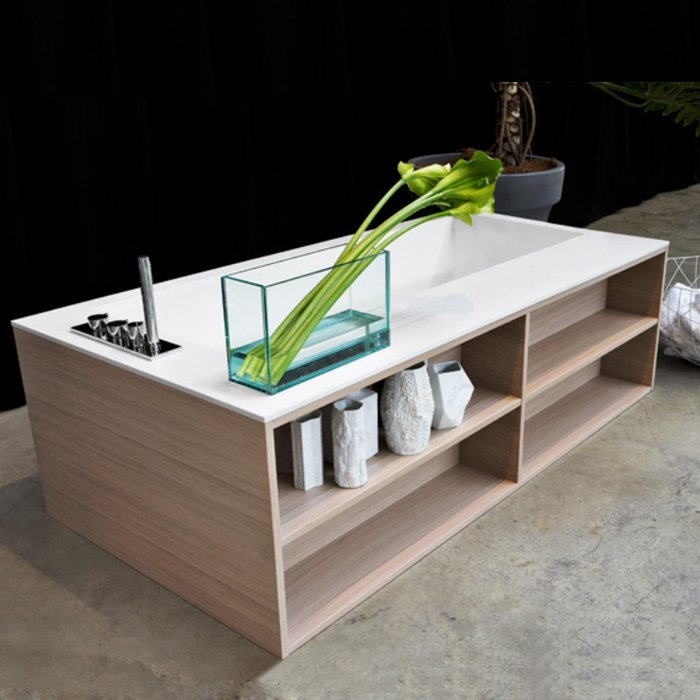Antonio Lupi Biblio Ванна прямоугольная 190х100х53.5см, цвет: белый