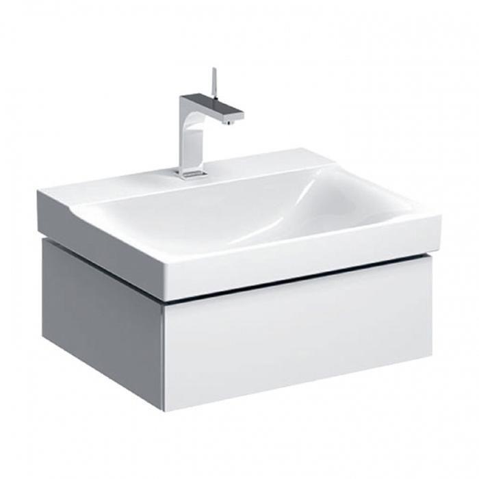 Geberit Xeno² Тумба с раковиной 58х22х46.2см, с 1 отв., подвесная, с одним выдвижным ящиком, цвет: белый