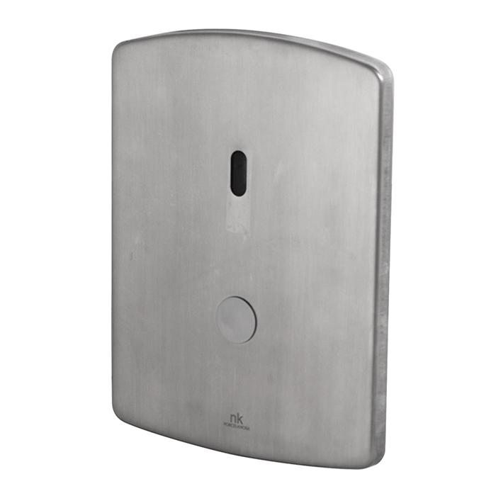 Noken Complementos Инфракрасная система смыва для унитаза с пьезоэлектрическо кнопкой, выпуск в стену, цвет: полированная нержавеющая сталь