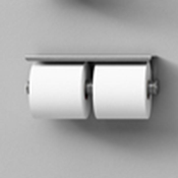 Agape Mach 2 Держатель для туалетной бумаги двойной подвесной 28.3x8.5 см, цвет: сатин