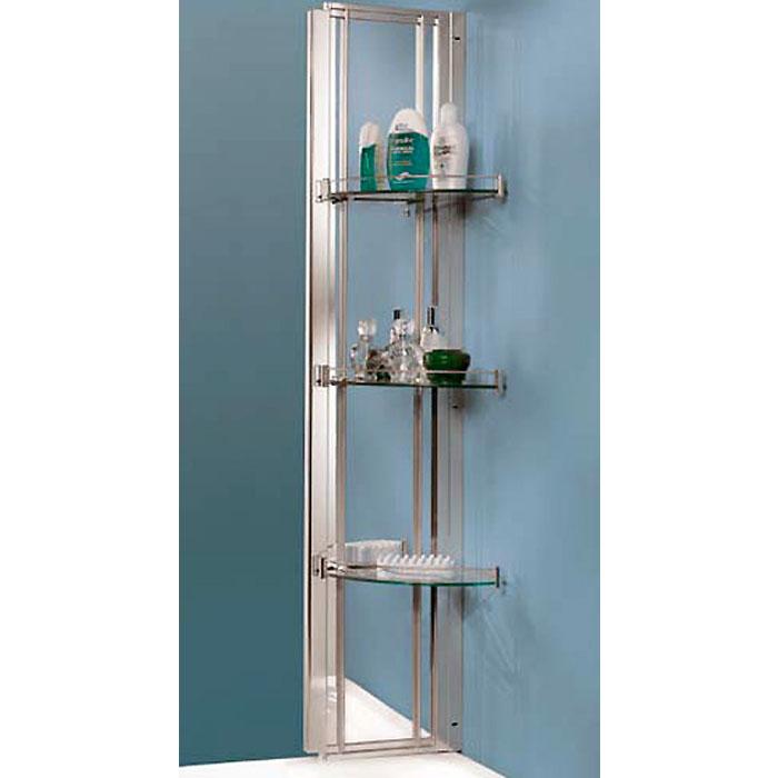 SAMO Classic Дополнительная стойка 29х22х140 см с двойным зеркалом и 3-мя полочками, цвет хром