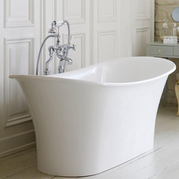 Victoria + Albert Toulouse, Ванна 180.8х80х71,7 см, quarrycast с основанием, Цвет: белый