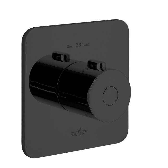 Webert Living Встраиваемый смеситель, термостатический, цвет: черный