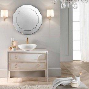 г. Москва: Mia Italia Elegance комплект мебели в глянцевом белом цвете с мраморной столешницей и накладной раковиной